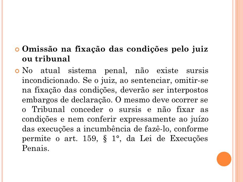 Omissão na fixação das condições pelo juiz ou tribunal