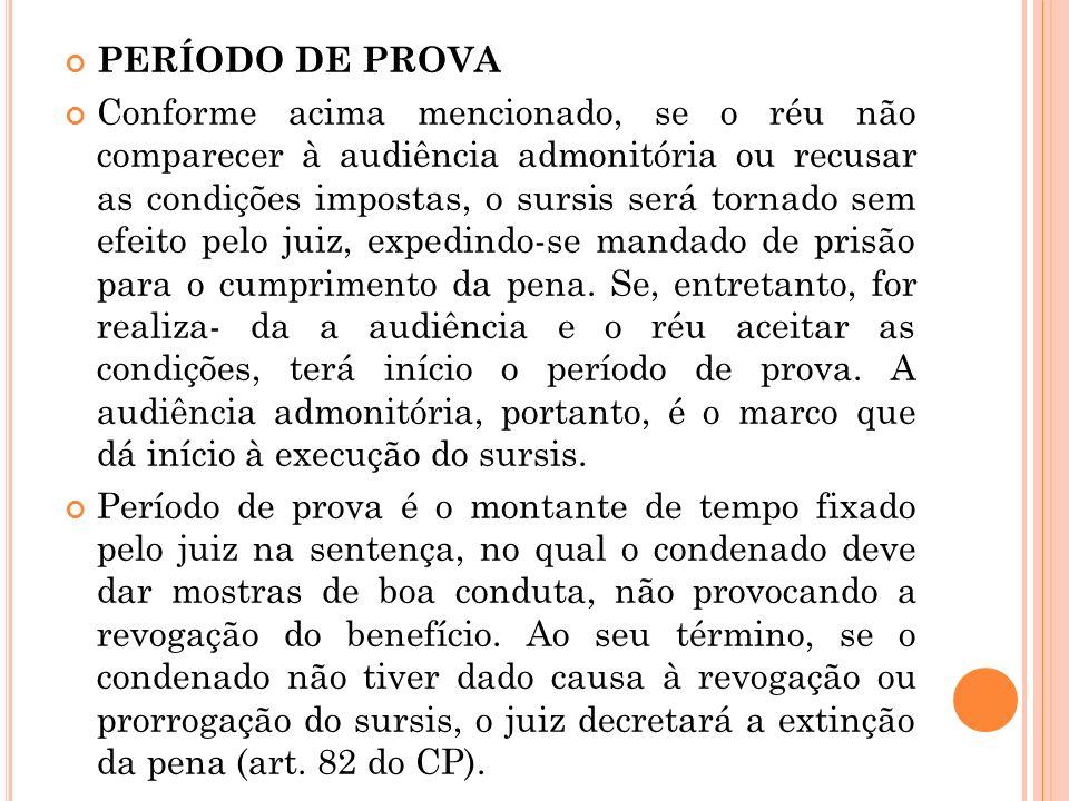 PERÍODO DE PROVA