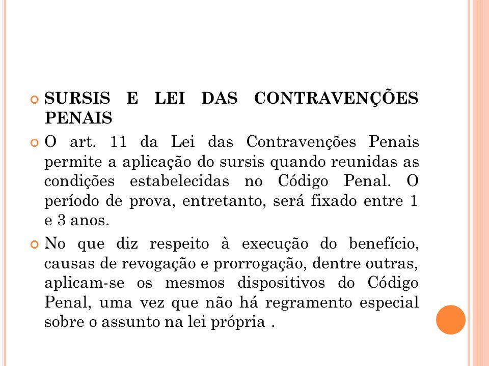 SURSIS E LEI DAS CONTRAVENÇÕES PENAIS