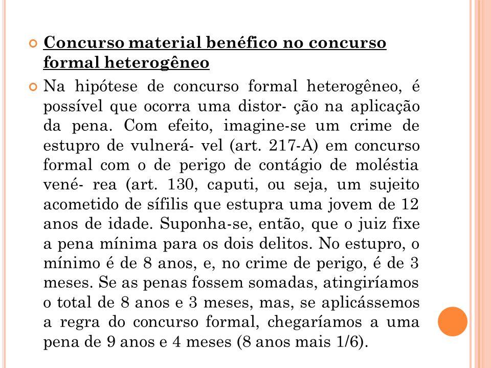 Concurso material benéfico no concurso formal heterogêneo