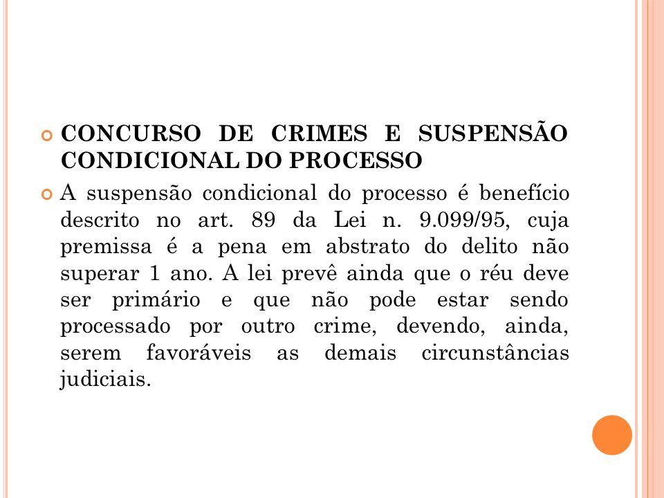 CONCURSO DE CRIMES E SUSPENSÃO CONDICIONAL DO PROCESSO