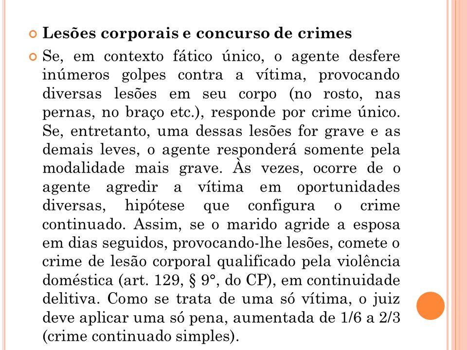 Lesões corporais e concurso de crimes