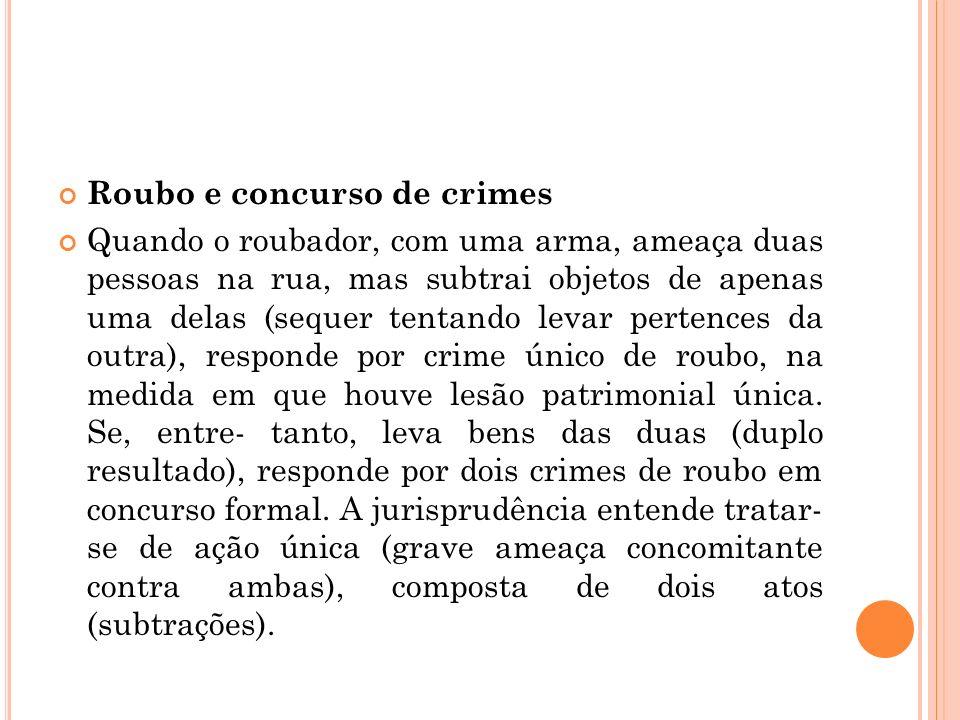 Roubo e concurso de crimes
