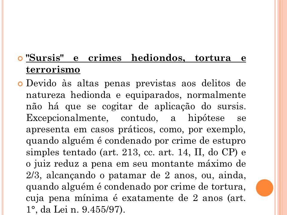 Sursis e crimes hediondos, tortura e terrorismo