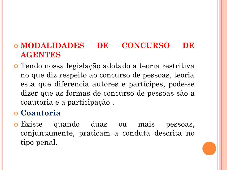 MODALIDADES DE CONCURSO DE AGENTES