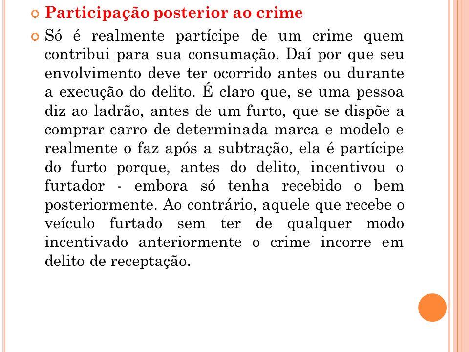 Participação posterior ao crime