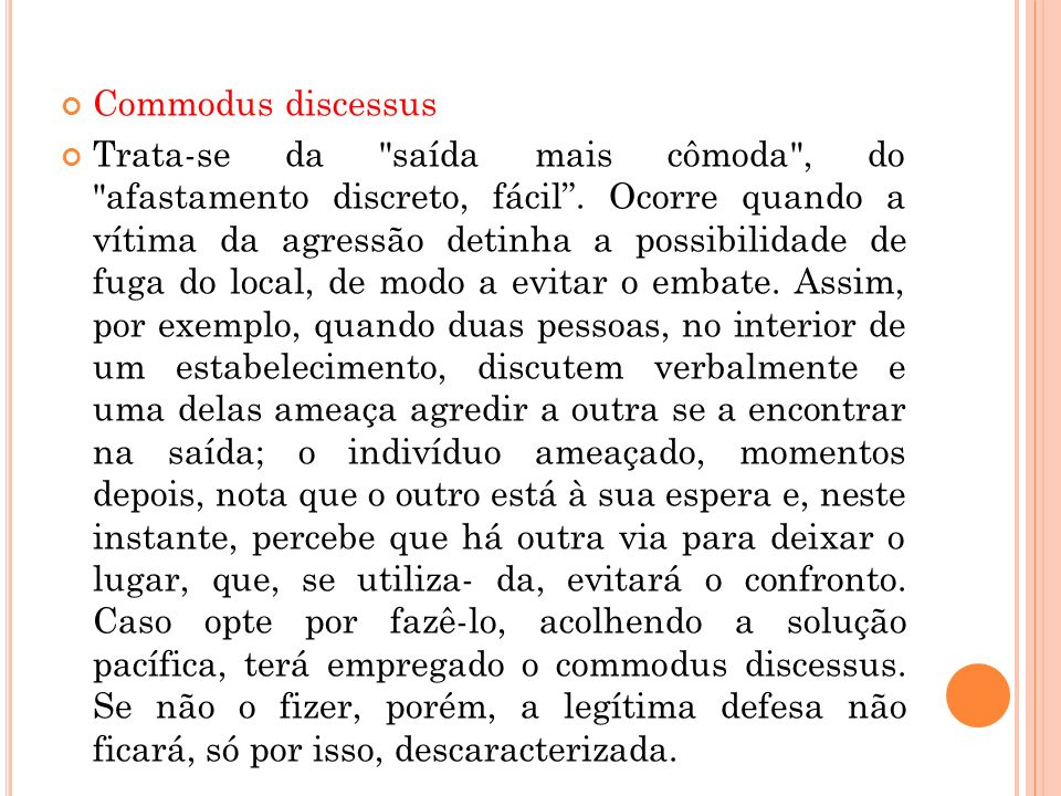 Commodus discessus