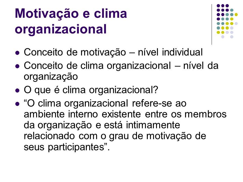 Motivação e clima organizacional