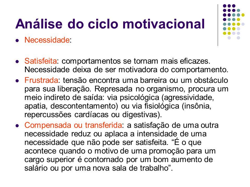 Análise do ciclo motivacional