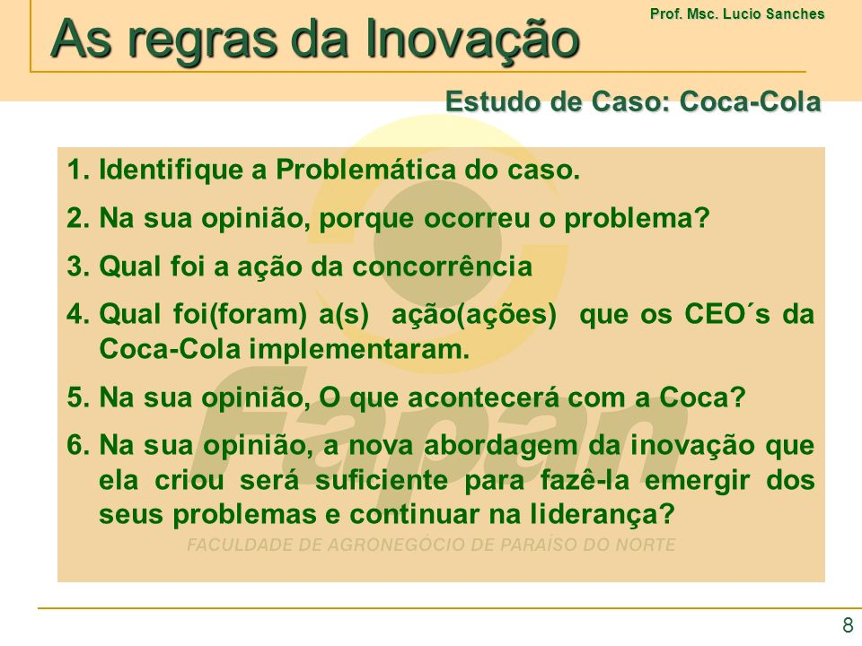 Estudo de Caso: Coca-Cola