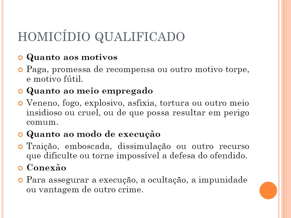 HOMICÍDIO QUALIFICADO