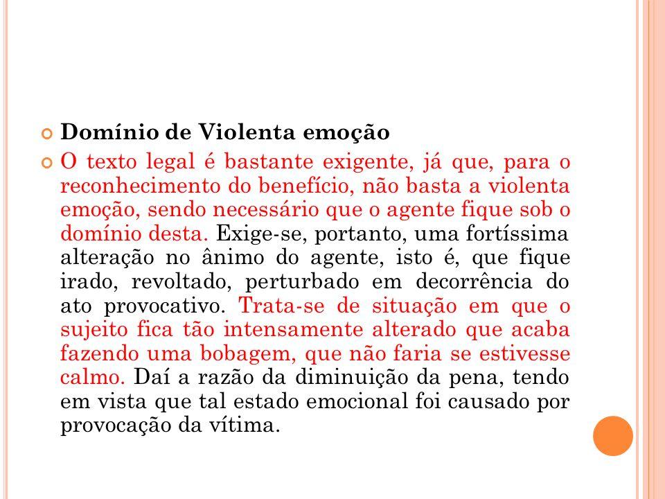 Domínio de Violenta emoção