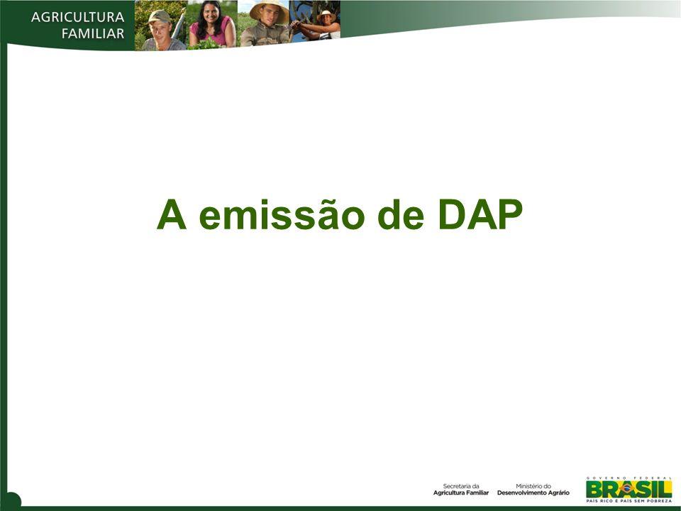 A emissão de DAP