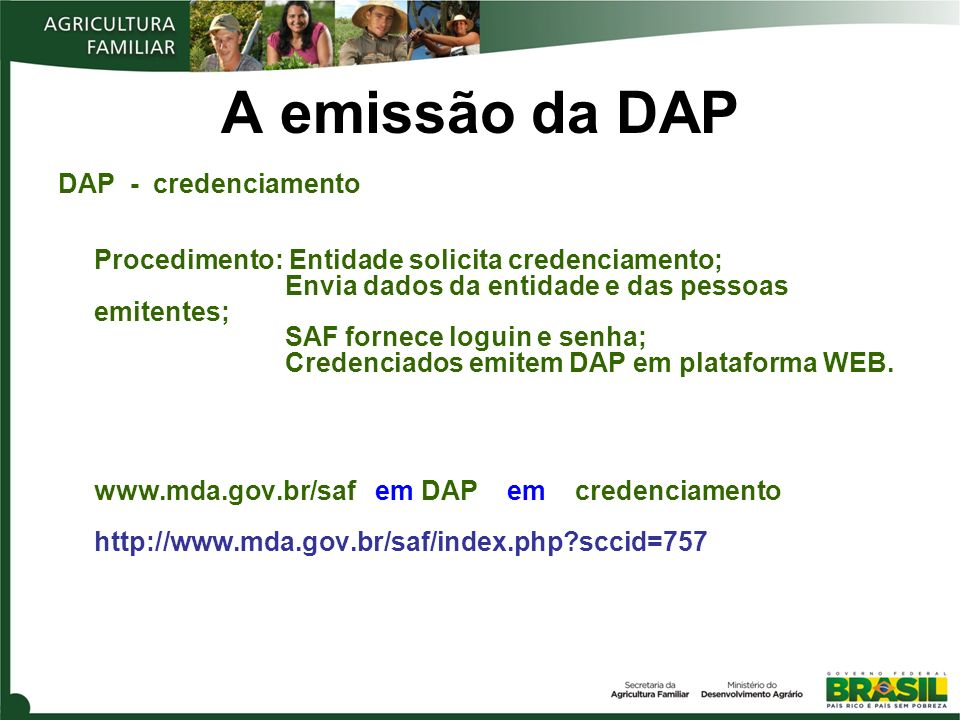 A emissão da DAP