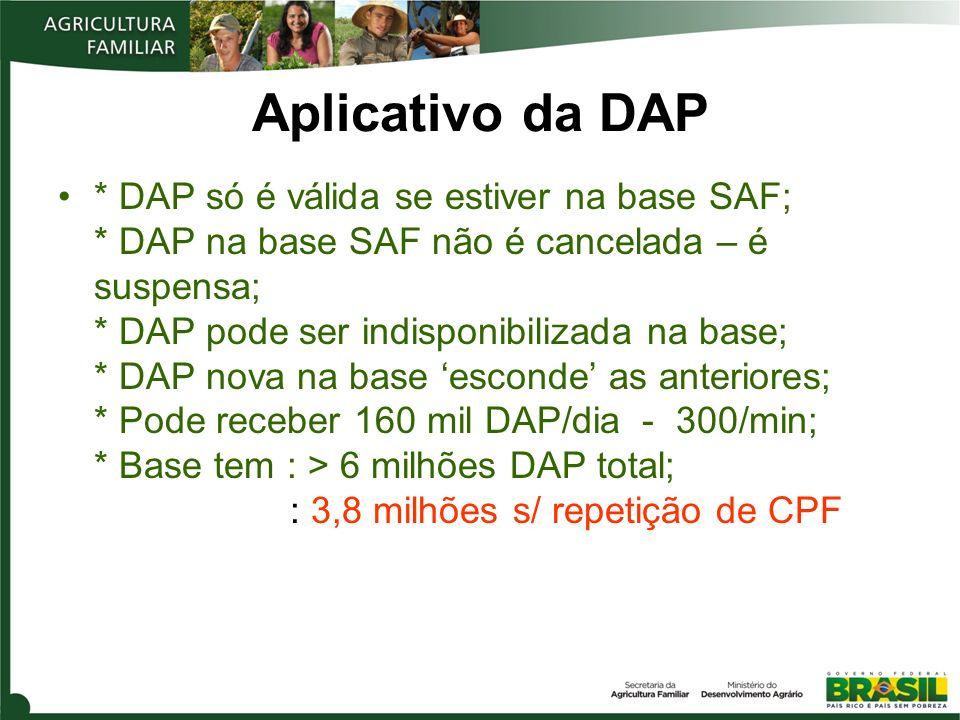 Aplicativo da DAP