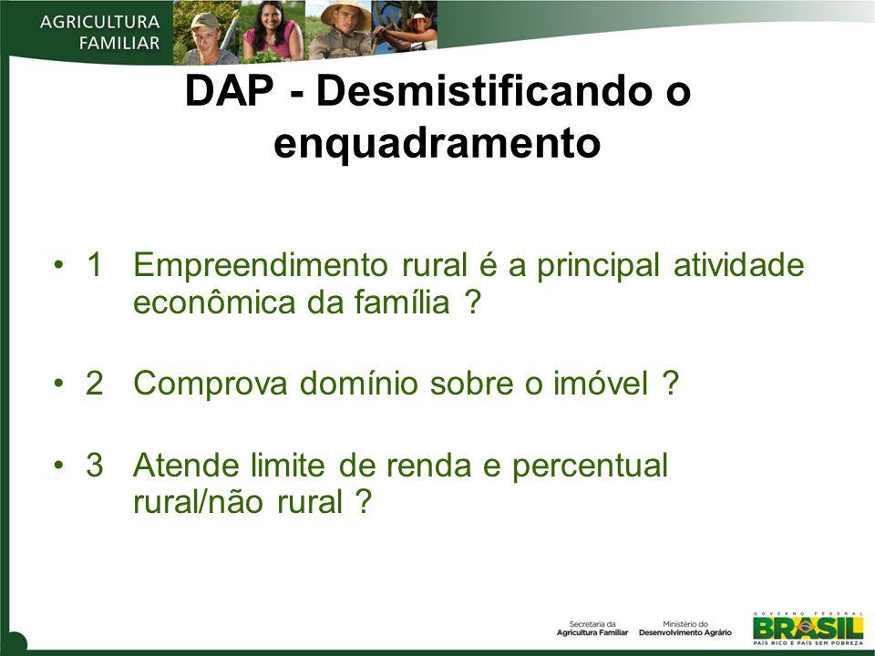 DAP - Desmistificando o enquadramento