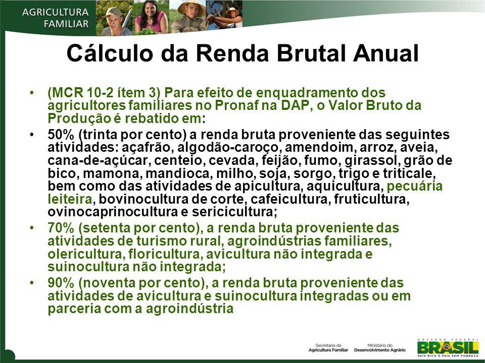 Cálculo da Renda Brutal Anual