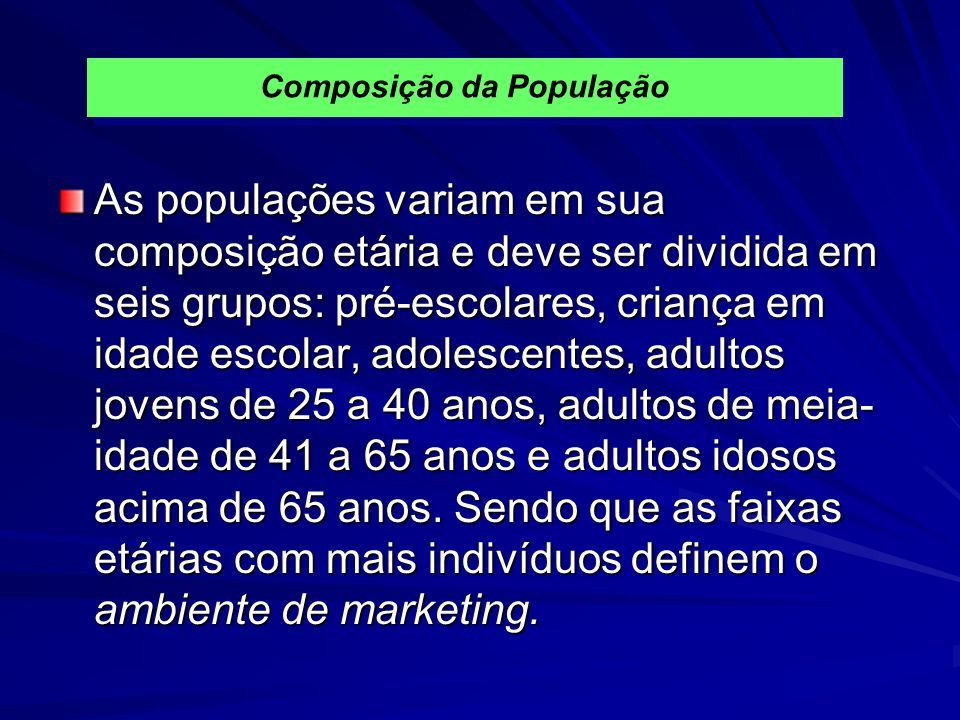 Composição da População