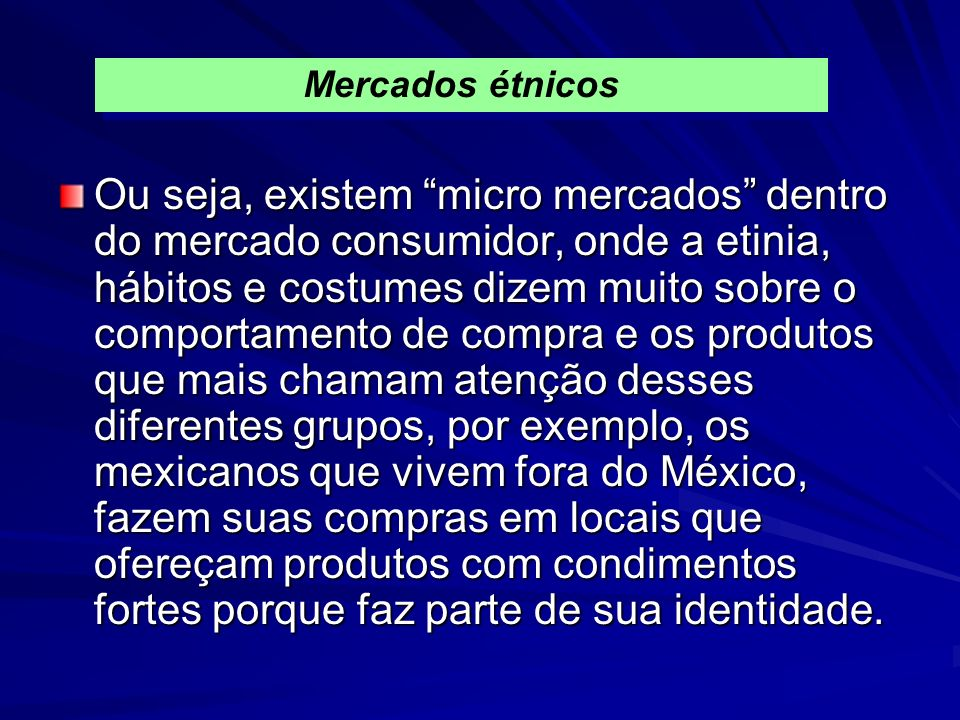 Mercados étnicos