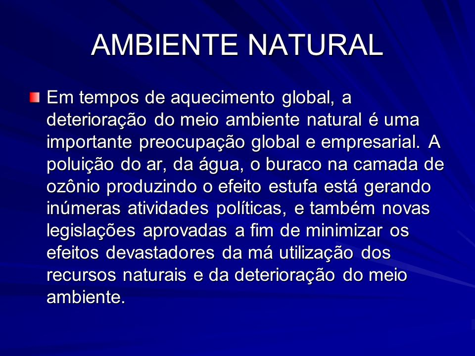 AMBIENTE NATURAL