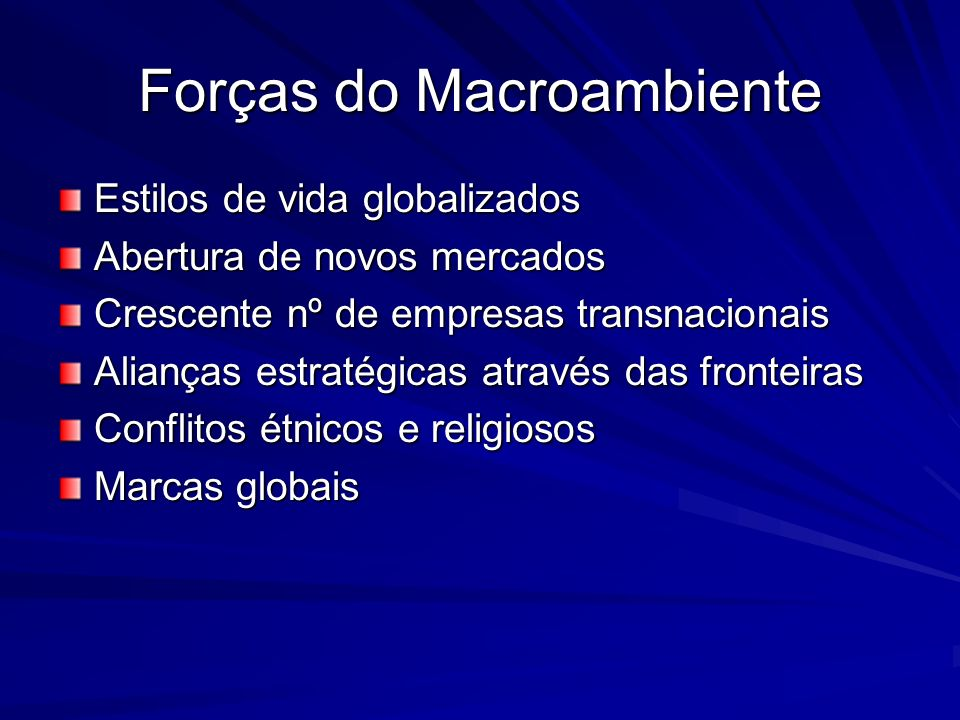 Forças do Macroambiente