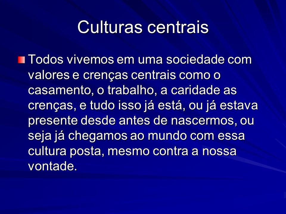 Culturas centrais