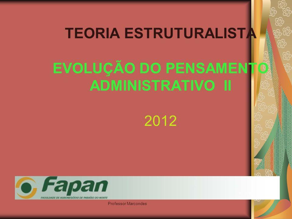 TEORIA ESTRUTURALISTA EVOLUÇÃO DO PENSAMENTO ADMINISTRATIVO II 2012