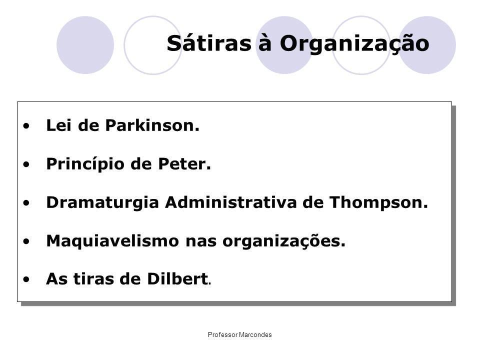 Sátiras à Organização Lei de Parkinson. Princípio de Peter.