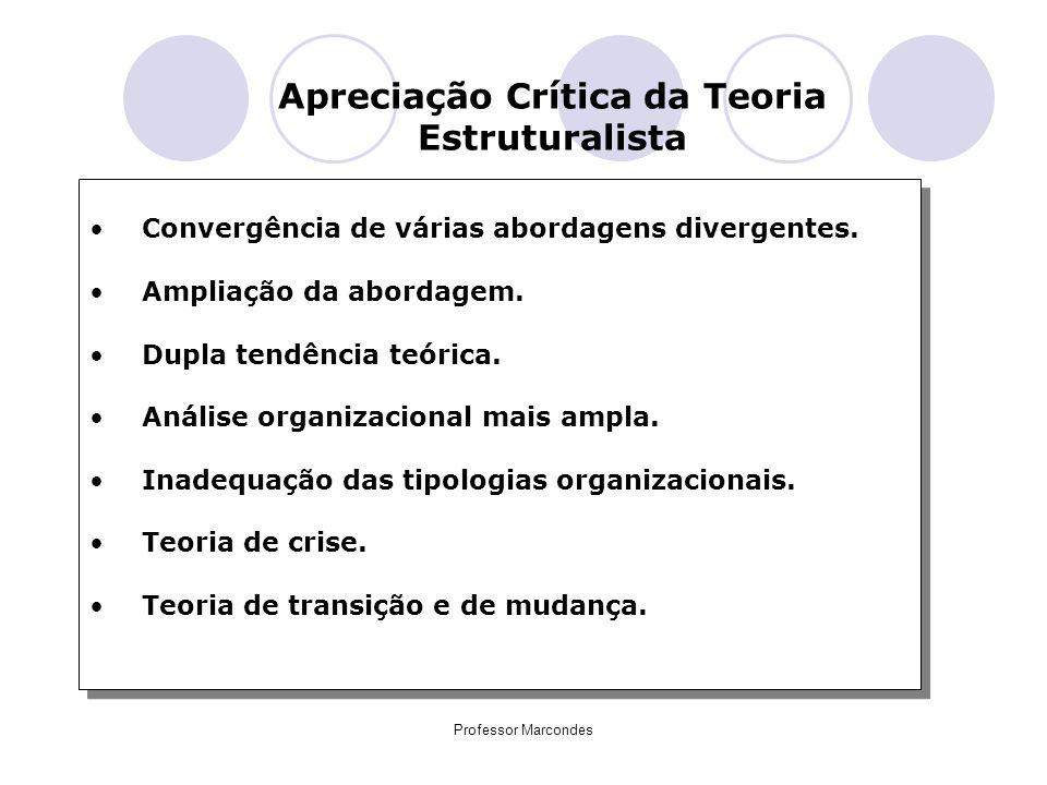 Apreciação Crítica da Teoria Estruturalista