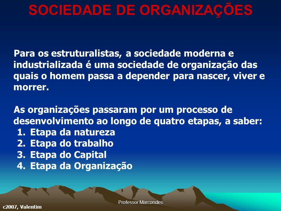 SOCIEDADE DE ORGANIZAÇÕES
