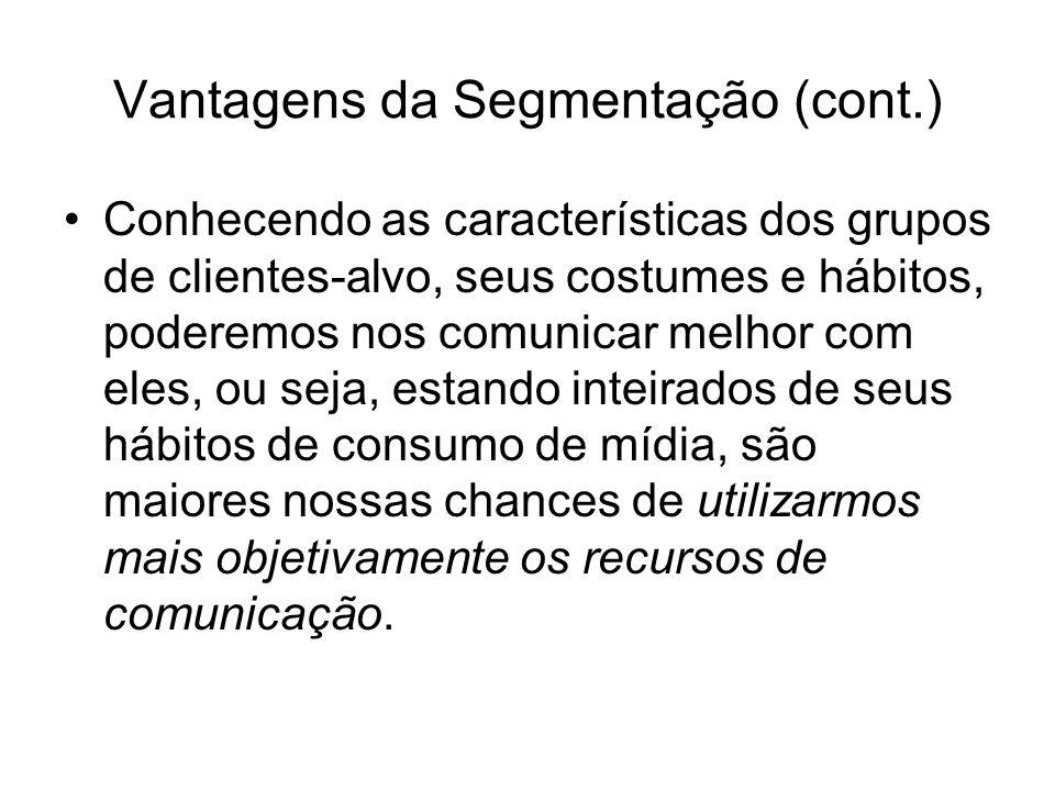 Vantagens da Segmentação (cont.)
