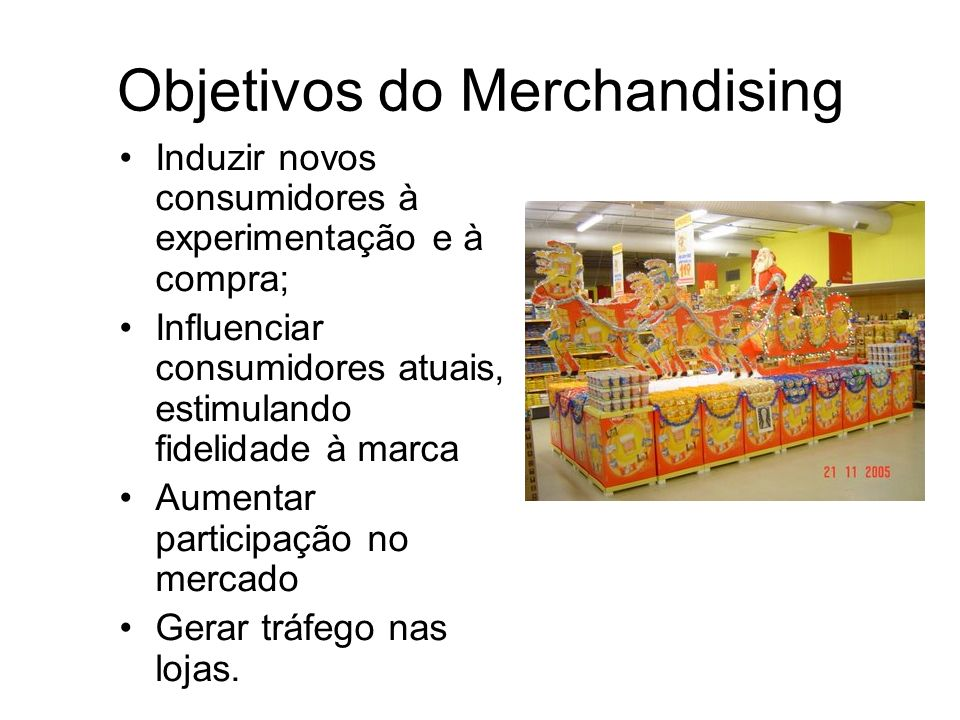 Objetivos do Merchandising