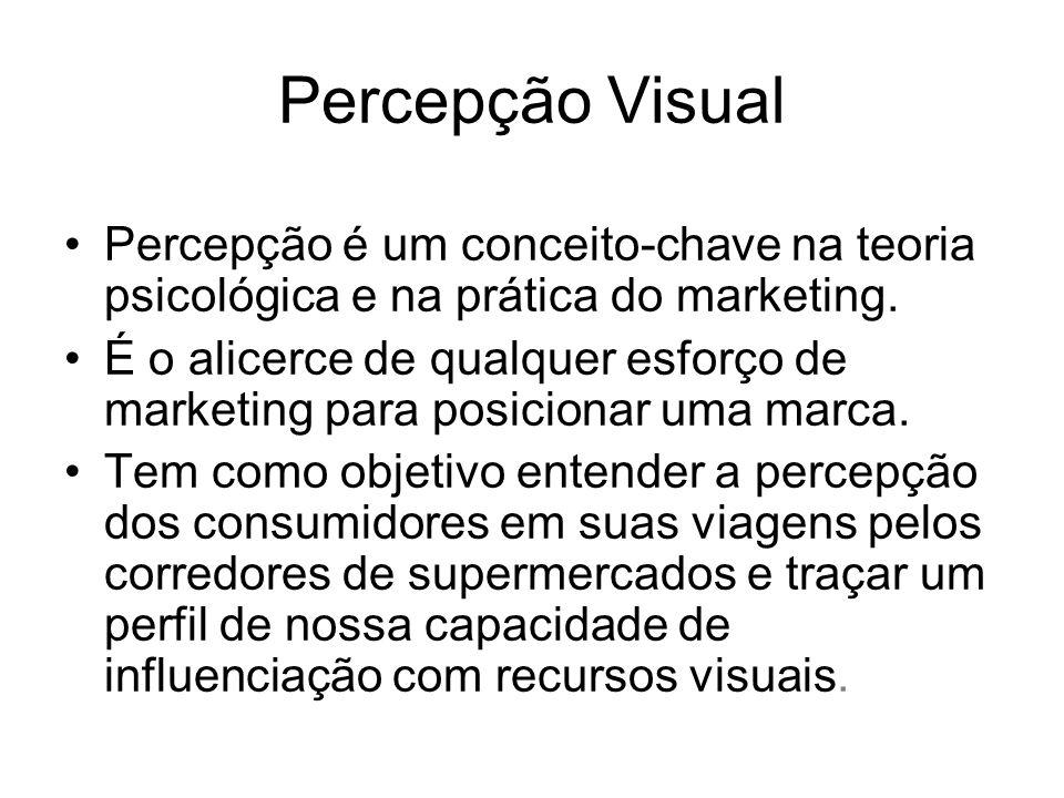 Percepção Visual Percepção é um conceito-chave na teoria psicológica e na prática do marketing.