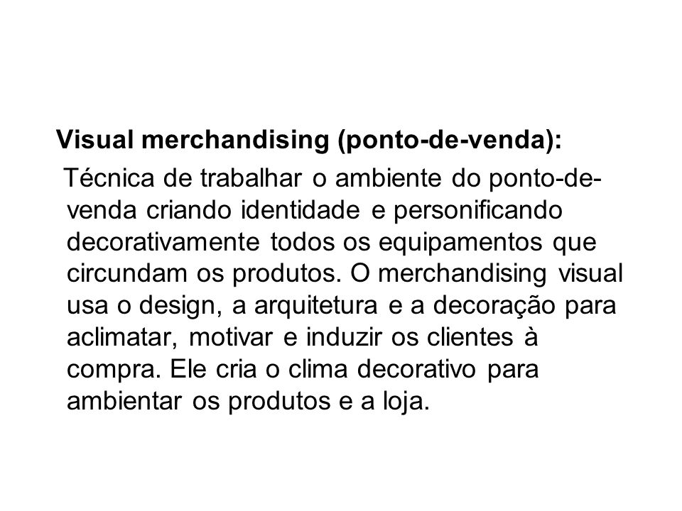 Visual merchandising (ponto-de-venda):
