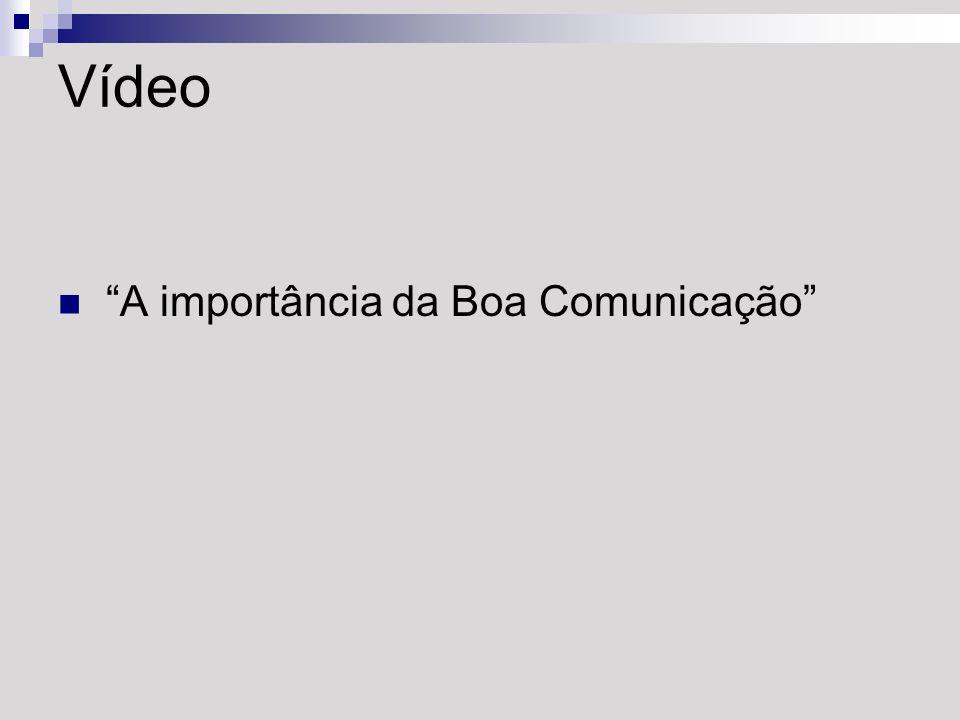 Vídeo A importância da Boa Comunicação