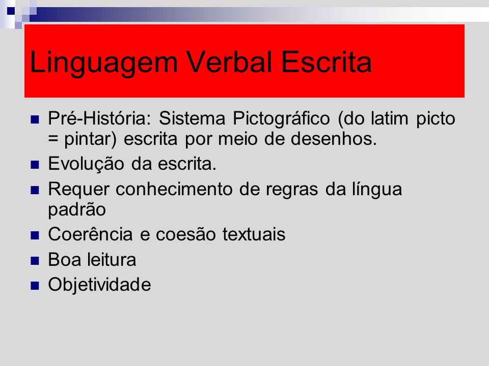 Linguagem Verbal Escrita