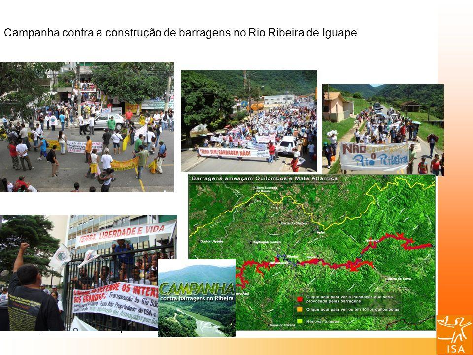 Campanha contra a construção de barragens no Rio Ribeira de Iguape