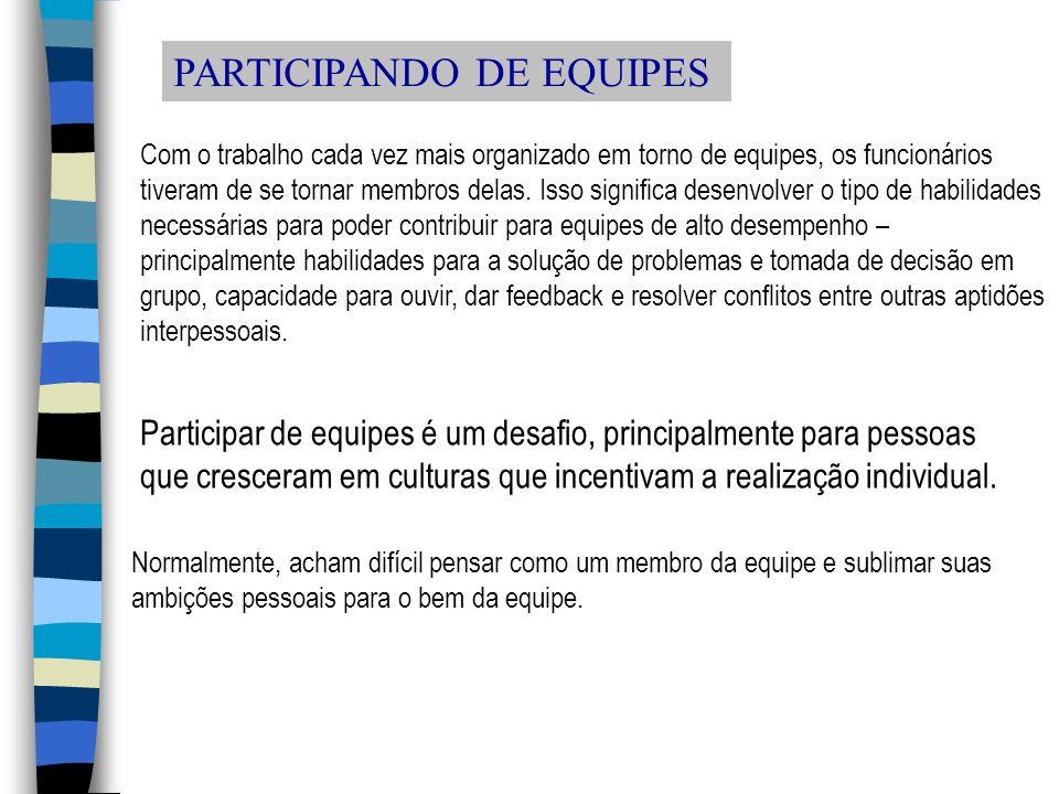 PARTICIPANDO DE EQUIPES