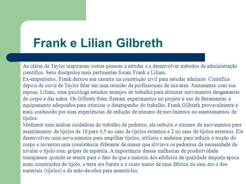 Frank e Lilian Gilbreth