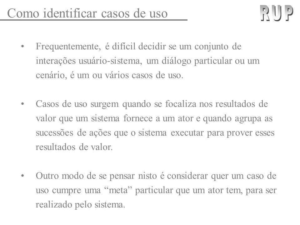 RUP Como identificar casos de uso