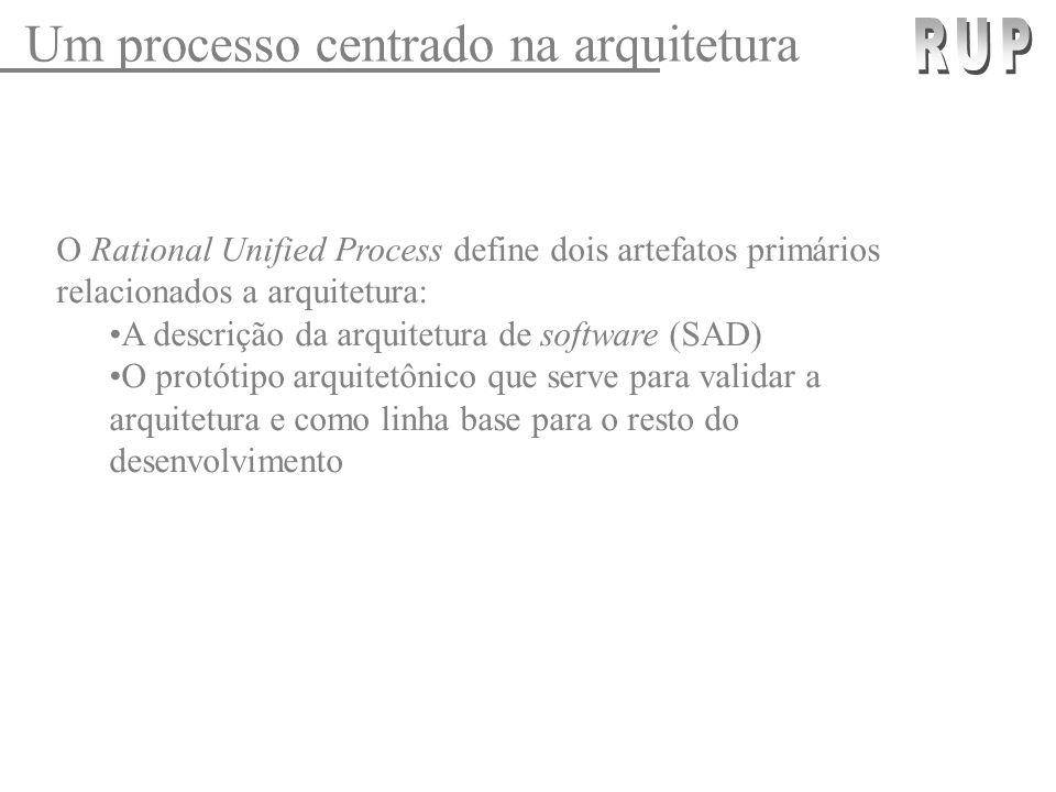 Um processo centrado na arquitetura RUP