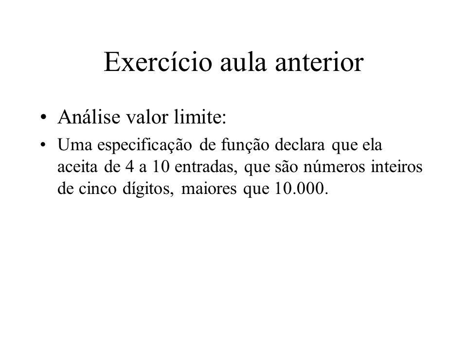 Exercício aula anterior