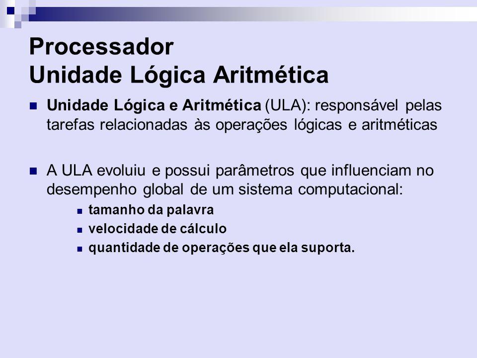 Processador Unidade Lógica Aritmética