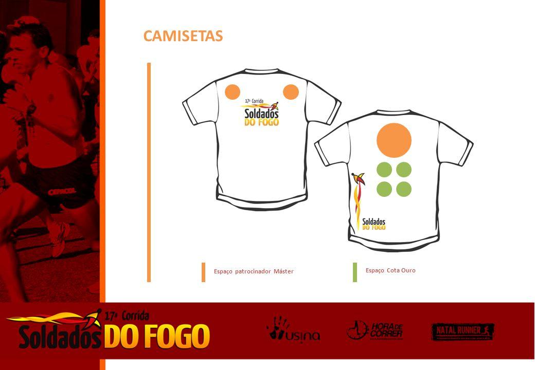CAMISETAS Espaço patrocinador Máster Espaço Cota Ouro
