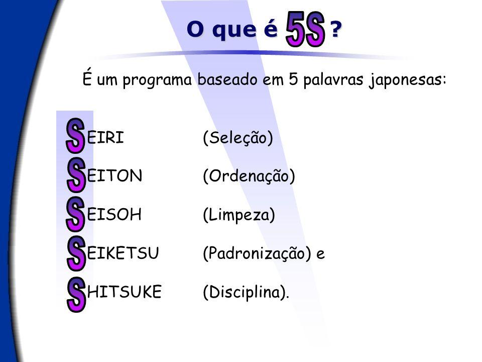 5 S S S S S S O que é É um programa baseado em 5 palavras japonesas: