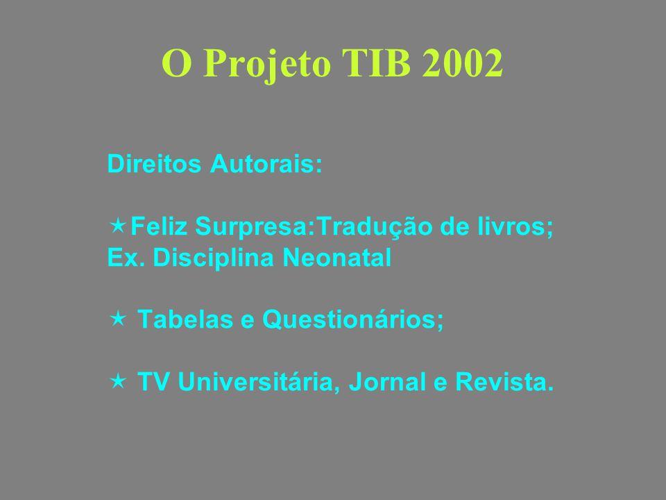 O Projeto TIB 2002 Direitos Autorais: