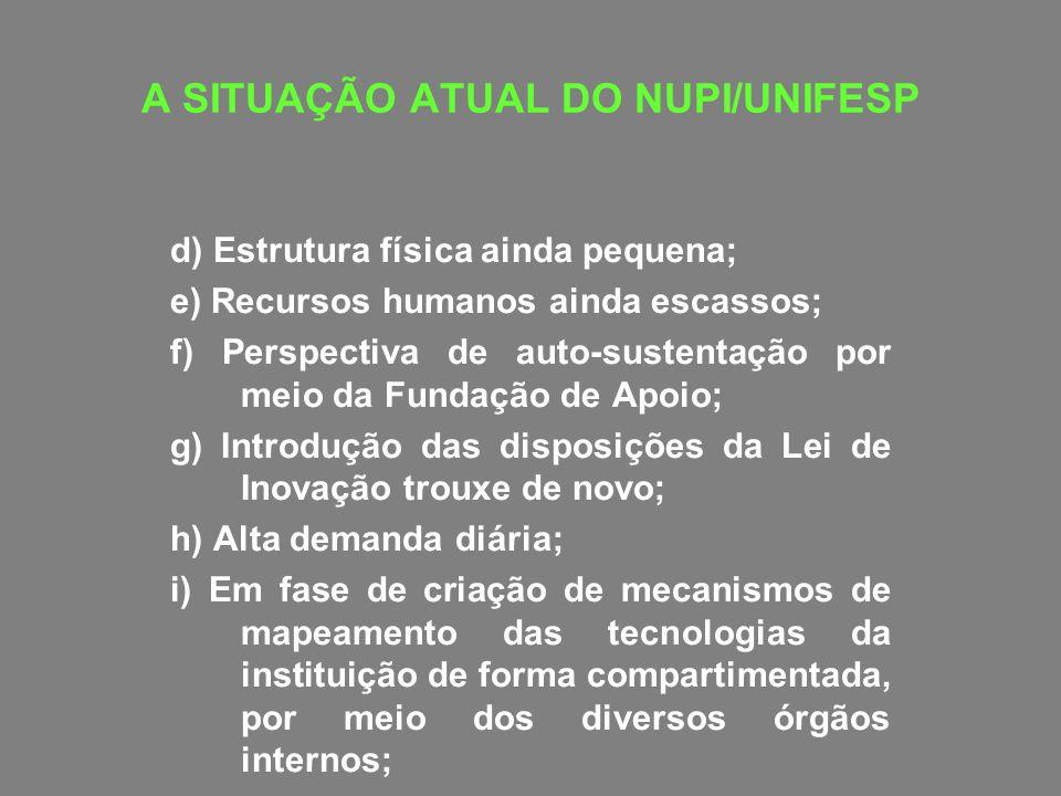 A SITUAÇÃO ATUAL DO NUPI/UNIFESP