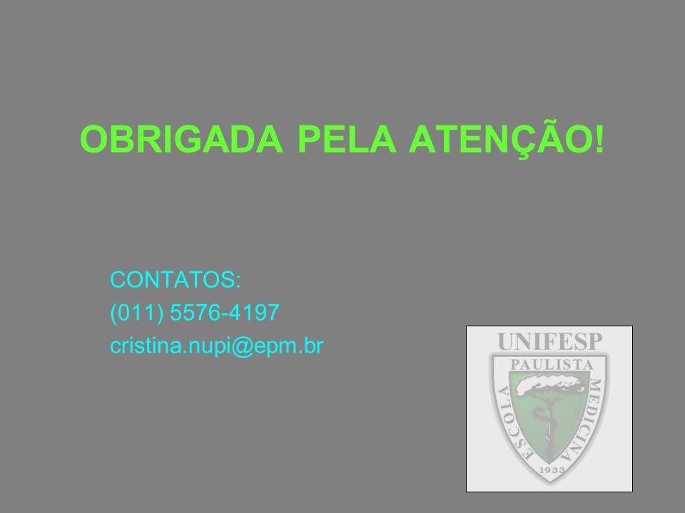 CONTATOS: (011) 5576-4197 cristina.nupi@epm.br