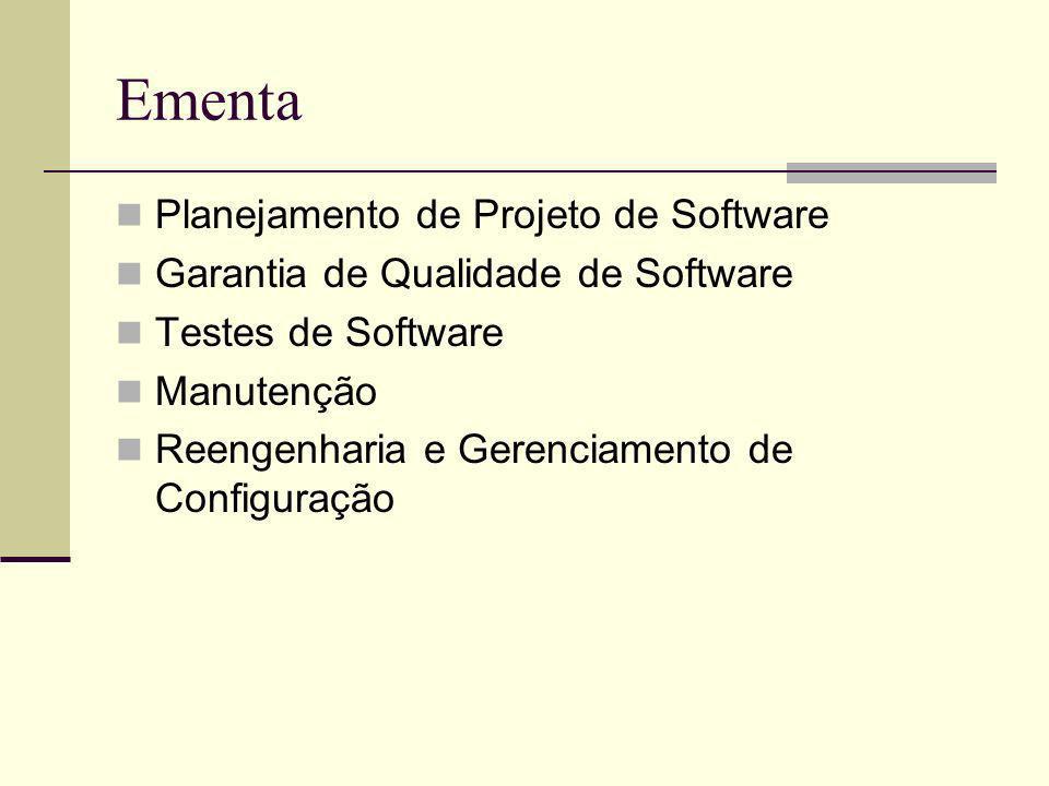 Ementa Planejamento de Projeto de Software