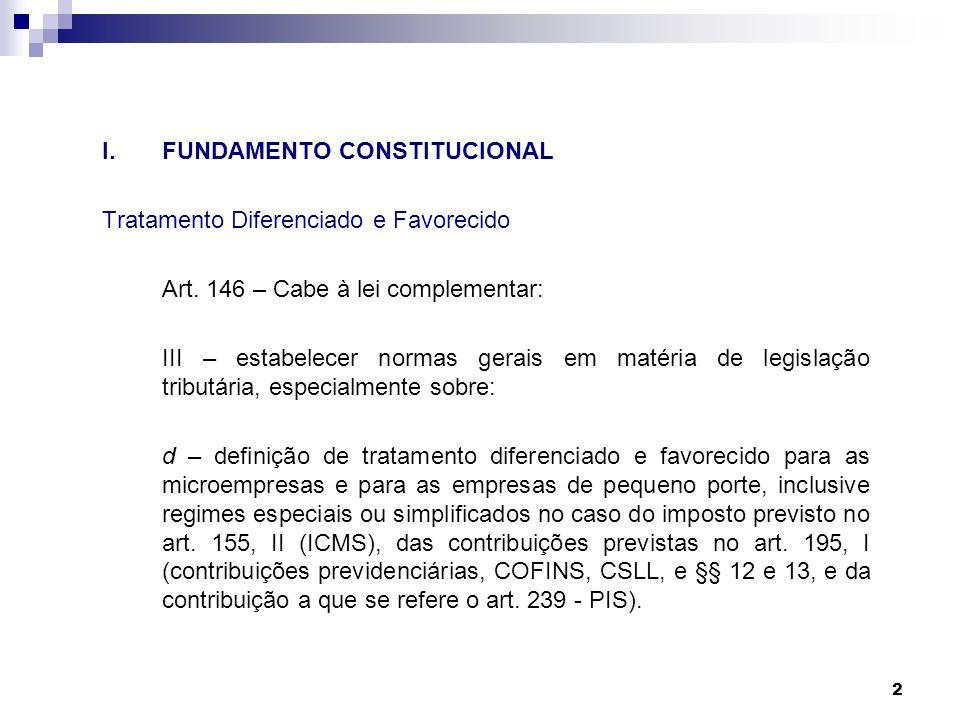 I. FUNDAMENTO CONSTITUCIONAL